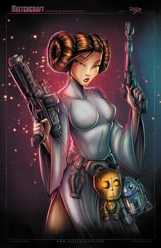 Star Wars - Leia by Rob Duenas Website - Tumblr - Facebook