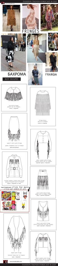 SS 2017 fashion trends only at http://modacable.com. all about fringes!!subscribe  for free!!!