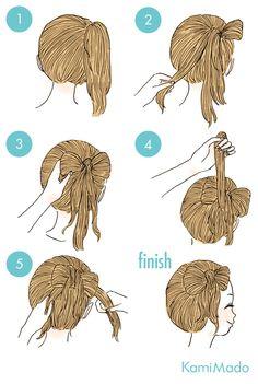 Hair Cute Simple Hairstyles, Pretty Hairstyles, Kawaii Hairstyles, Braided Hairstyles, Medium Hair Styles, Curly Hair Styles, Hair Arrange, Doll Hair, Bridesmaid Hair