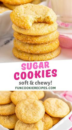 You will love this easy recipe that makes the perfect soft and chewy sugar cookies. Learn how to make sugar cookies and you'll be on your way to becoming a cookie baking master.