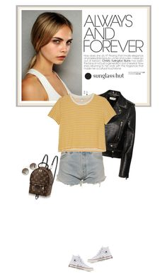 """""""Shades of You: Sunglass Hut Contest Entry"""" by mariots22 ❤ liked on Polyvore featuring Converse, Yves Saint Laurent, Levi's, Monki and Prada"""
