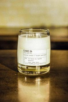 Le Labo Fragrances classic Cade 26 candle. Amazing scents from a boutique perfumer.