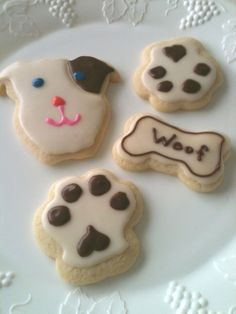 BARK PARK COOKIES Gift Dog Shaped Cookies by sugarcookiecottage1