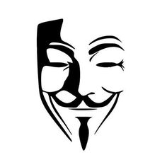 Anonymous Mask vinyl decal sticker for Car/Truck Window Laptop Guy Fawkes hacker Dark Art Drawings, Pencil Art Drawings, Art Drawings Sketches, Tattoo Drawings, Masque Anonymous, Anonymous Tattoo, V Pour Vendetta, V For Vendetta Mask, V For Vendetta Tattoo
