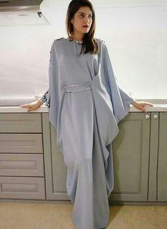 2 piece modern batwing set pattern Order by line : (with Abaya Fashion, Muslim Fashion, Modest Fashion, Fashion Dresses, Kaftan Style, Caftan Dress, Hijab Dress, Mode Abaya, Mode Hijab