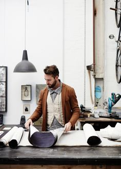 Matthew Collins of Art and Interior in his Footscray studio. Photo by Sean Fennessy for thedesignfiles.net