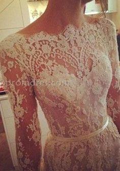 lace wedding dress longsleeved