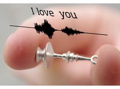 "3D Printed Valentine's Day ""I love you"" Waveform Earrings by David Bizer #3dPrinteresting"