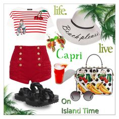 """Island time..."" by nihal-imsk-cam on Polyvore featuring moda, Dolce&Gabbana, Pierre Balmain, Chocolate Schubar ve Boohoo"