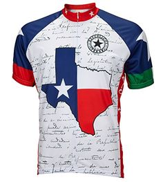 Texas Flag Cycling Jersey by World Jerseys Mens 3XL Short Sleeve   Click on  the image d231c5b5b