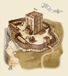 DeviantArt: More Collections Like Medieval town 3 by Fantasy City, Fantasy Castle, Fantasy Map, Fantasy Places, Medieval Fantasy, Fantasy World, Chateau Medieval, Medieval Town, Medieval Castle