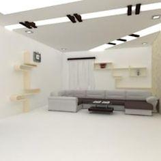 False ceilings: modern by splendid interior & designers pvt.ltd ,modern Gypsum Ceiling Design, Ceiling Design Living Room, Bedroom False Ceiling Design, Living Room Decor, Tv Display, Pop Design, Ceilings, Designers, Ceiling Lights