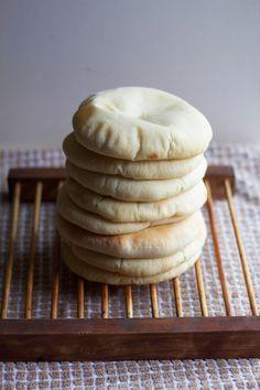 Tatas Homemade Pita Bread via The Baker Chick