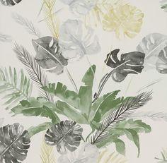 "Wallpaper Direct Jungle Green / Grey wallpaper by Paper Moon - $83.00 per roll (1'9"" x 32'9"")"