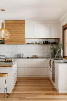 trendy kitchen design ideas for your home this year 00027 ~ Beautiful House Home Decor Kitchen, New Kitchen, Home Kitchens, Kitchen Dining, Kitchen Ideas, Modern Kitchens, Neutral Kitchen Designs, Interior Design Kitchen, Modern Interior