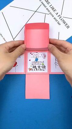 Diy Crafts Hacks, Diy Crafts For Gifts, Creative Crafts, Cool Paper Crafts, Paper Crafts Origami, 5 Minute Crafts Videos, Diy Gift Box, Diy Gift Cards, Handmade Cards
