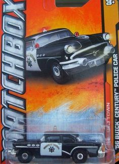 2012 Matchbox (69/120) '56 Buick Century Police Car by Mattel. $0.19. Ages 3 and up. 1:64 Scale die cast. BUICK POLICE CAR