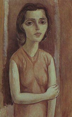 Lasar Segal, Myran em Pé, 1952 , Oil on Canvas, 100 x 65 cm,  Photografical reproduction :  Romulo Fialdini