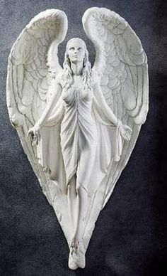 Spiritual Path Angel Wall Sculpture-By artist Evelyn Myers Hartley
