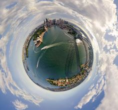 World city panoramas transformed into 360-degree globes  – in pictures - Sydney
