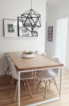 Creating small dining rooms can sometimes be a trouble. Today, Modern Dining Tables has selected 10 small dining table ideas you gonna love. Dining Room Design, Dining Room Table, Small Dining Table Apartment, Dining Sets, Simple Dining Table, Dining Decor, Kitchen Tables, Ikea Dinning Room, Space Saving Dining Table