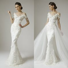 Cheap Dresses Pageant Buy Quality Dress Hourglass Directly From China Sold Suppliers Mermaid Half Sleeves Appliques Beads Lace Wedding 2015