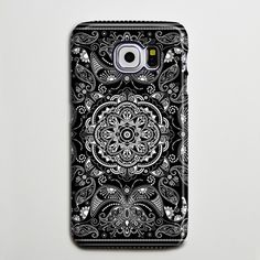 Vintage Black White Floral Galaxy s6 Edge Plus Case Galaxy s6 s5 Case Samsung Galaxy Note 5 4 3 Phone Case s6-040
