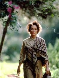 Meryl Streep.  Out of Africa  A great way to honor the Oscar winners tonight.