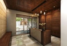 lobby condo google search accent wall pinterest lobbies lobby design and condos. Black Bedroom Furniture Sets. Home Design Ideas