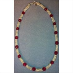 STUNNING CHAMPAGNE BUBBLES NECKLACE - HANDMADE - RED - CHRISTMAS/PARTY/OCCASION on eBid United Kingdom