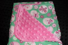 Soft Minky cozy baby blanket of pretty by MuffysCreations on Etsy