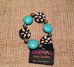 Lovely Turquoise &  Cow Bone Beads bracelet
