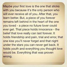 what is a first love