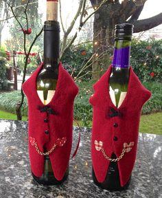 Natale - Vestitino copri bottiglia, by FANTASY WORK, 8,50 € su misshobby.com