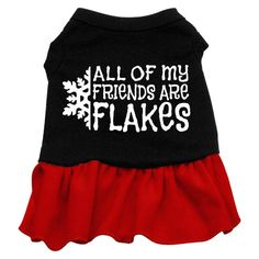 Mirage Pet Products 20-Inch All My Friends are Flakes Screen Print Dress > You can find more details here : Dog Dresses