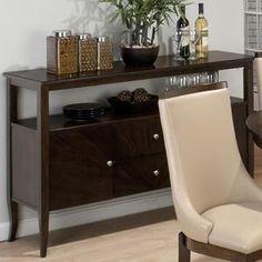$580  18D x 56W x 36 H  Webber 2 Drawer Server in Walnut | Nebraska Furniture Mart