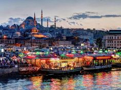 Istanbul is one of the world's most beautiful cities. Istanbul's most beautiful landscapes in this article with you. Istanbul is city of culture and civilization. Istanbul is a very old city. Places Around The World, Around The Worlds, Turkey Country, Voyage New York, Istanbul City, Istanbul Tourism, Les Continents, Blue Mosque, Magic City