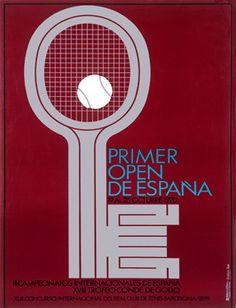 Spanish Tennis Open Championship Ad Fine Art Print
