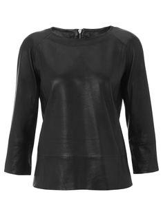 Galewela Black Leather Top