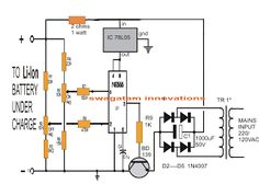 Li-Ion Battery Charger Circuit Using IC 555 - Electronic Circuit Projects