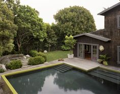 Modern Pool + Rustic House, my cabin has to have a pool!