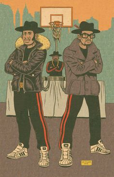 Run-DMC by Ed Piskor. Hip-Hop Family Tree.