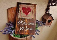 Placa Decorativa Heart | Olha o que eu fiz... | Elo7 - Gillian Demori Lopes