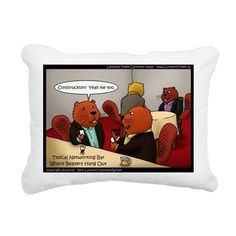 #Beavers #Networking #Bar #Pillow by @LTCartoons @cafepress 20%off #sale Use Code 20FEB @C/O Ends Sun 12amPcTm #humor #wildlife #animals #business #gift @pinterest
