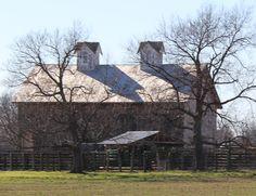 Barn located in Prairie Grove, Arkansas. 2/14/2015.