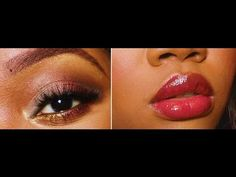 Makeup Tutorial: Taupe Burgundy & Gold - YouTube