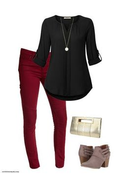 the holidays in style! Visit for links to find each item pictured and for even more great outfit inspo!Celebrate the holidays in style! Visit for links to find each item pictured and for even more great outfit inspo! Komplette Outfits, Casual Work Outfits, Business Casual Outfits, Work Casual, Polyvore Outfits, Fashion Outfits, Business Attire, Buy Business, Fall Business Casual
