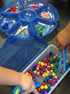 Sorting Pom Poms: Mrs. Cardenas' Bilingual Prek Classroom