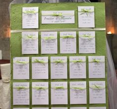 tableau mariage verde - Cerca con Google Tableau Marriage, Seating Charts, Table Plans, Green Wedding, Wedding Table, Marie, Wedding Planner, Place Cards, How To Plan
