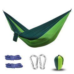 Hammock Double Person Portable Nylon Parachute Outdoor Indoor Ultralight 1lb 2oz #Unbranded